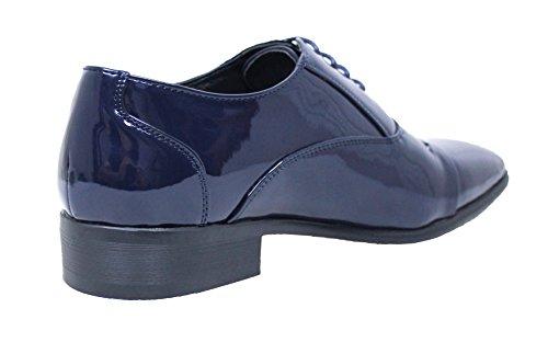 uomo eleganti lucide blu classica scuro vernice Class AK Scarpe collezioni linea wqxHInTw7E