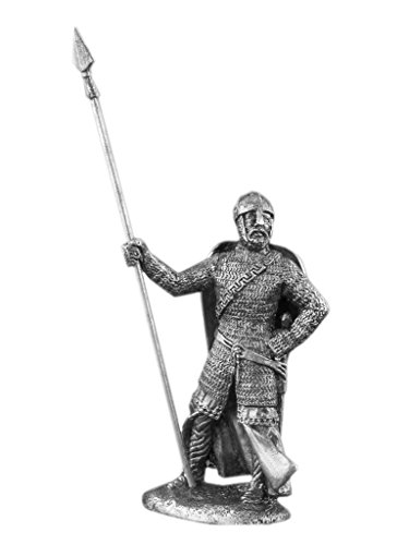 Ronin Miniatures European Knight Middle Ages Historical UnPainted Tin Metal 54mm Action Figures Toy Soldiers Size 1/32 Scale for Home Décor Accents Collectible Figurines ITEM #Kn-09