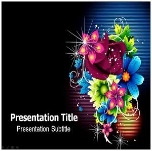 Amazon Com Fancy Design Floawer Powerpoint Templates Fancy Design Flower Ppt Powerpoint Presentation On Templates Software