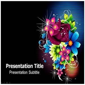 amazon com fancy design floawer powerpoint templates fancy design