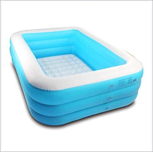 子供の膨脹可能なプール家族の長方形の膨脹可能なプール、プールを漕ぐ夏の膨脹可能な浴槽屋外の庭の芝生のテラスの地面のためエアーポンプ付,130cm
