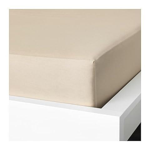 Ikea Fitted sheet, beige , Twin (Ikea Twin Bedding)