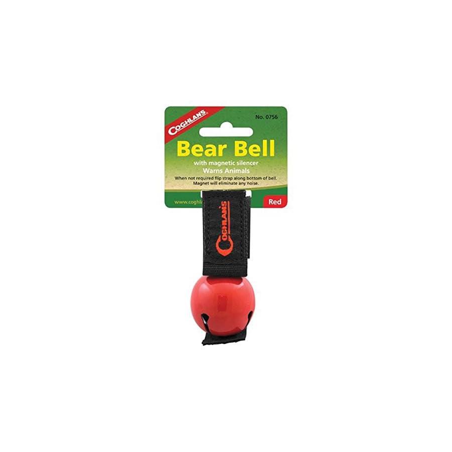 Coghlan's RED Bear Bell Metal w/ Magnetic Silencer