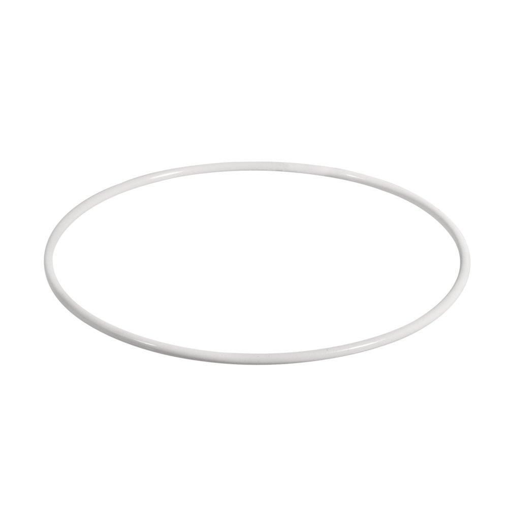 Rayher 2505200 Anneaux Mé talliques, Enduit, Weiß , 20 cm à ƒ Weber Weiß 20cm àƒ Weber Rayher Hobby GmbH 25-052-00