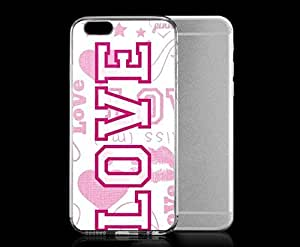 Light weight with strong PC plastic case for iPhone 4 4s Art Love Pink Lover