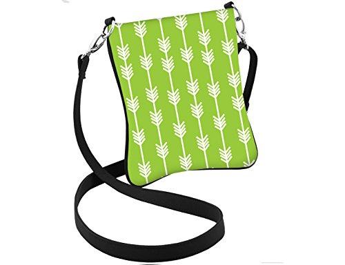 Lime Hipster Design Arrow Green Purse Bag Boho Crossbody Trendy AqfZwC0x0