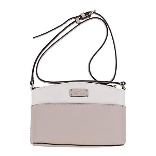 Kate Spade Millie Grove Street Leather Crossbody Bag Handbag Purse (Cream/Cement)