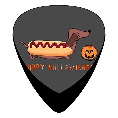 Happy Hallowiener Guitar Picks Celluloid 12 Pack Shape For Acoustic Guitar Mandolin Electric Guitar And Bass ()