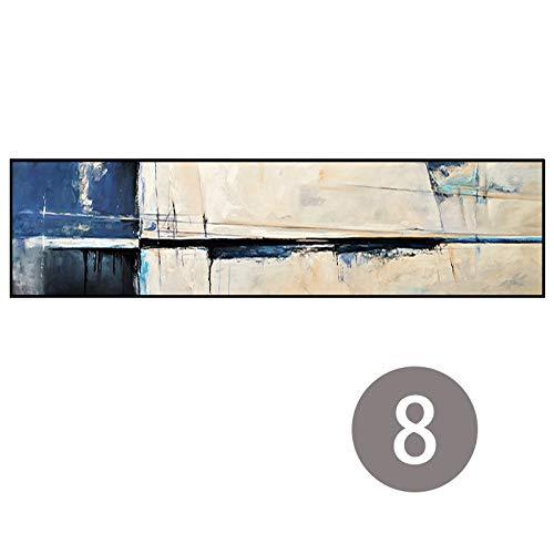 70x280cm Navy bleu QIAISHI Couleuré Grande Taille Affiche Abstraite Toile Art Paysage Peinture à l'huile Mur Photos pour Le Salon Moderne Pas de Cadre