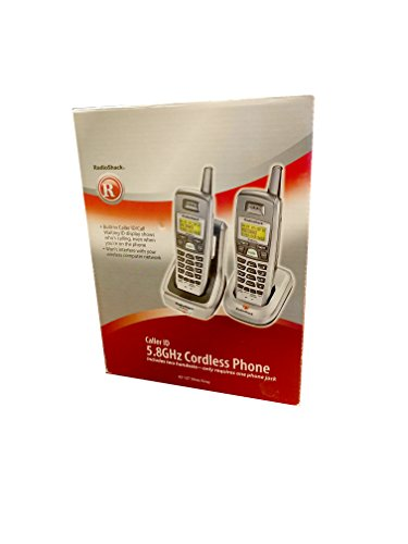 RadioShack 43-137 cordless phone W/ Caller ID 5.8 GHz Silver/Gray