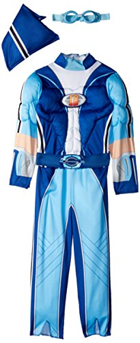 Sportacus Toddler Muscle Lazy Town Cartoon Network Costume, One Color, Large/4-6