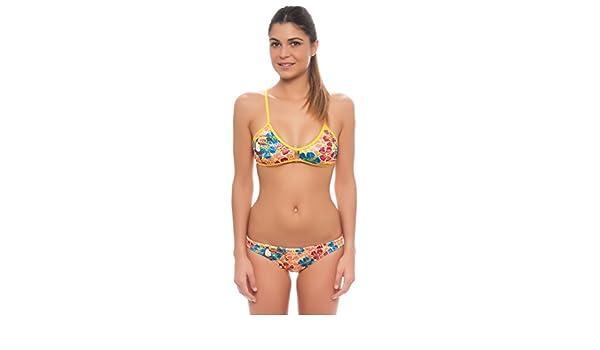Turbo Bikini Para Mujer Tropical Tucan knotties para schwimmerinnen Water Polo Triathlon - En el respaldo cruzado para espaguetis Tirantes, carbón, ...