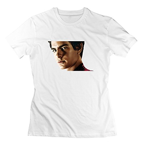 Short Sleeve Best Spider Man Actor Tobey Maguire Andrew Garfield Or Tom Holland T-Shirt For Women L White
