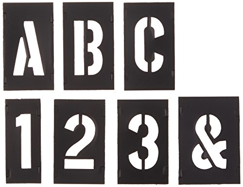 CH Hanson 10190 2inch Plastic Letter and Number 138 Piece Interlocking Stencil Set