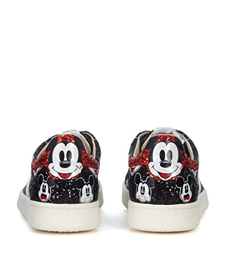 Moa Master Of Arts Dames Moa Mickey Mouse Zwart Glitter Sneakers Zwart