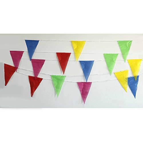 Streamers & Confetti - 1set Colorful Bunting Warning Banner Brithday Graduation Hang Triangles String Flags Festival Baby - Streamers Banners Streamers Confetti Fabric Pennant Flag Garland -