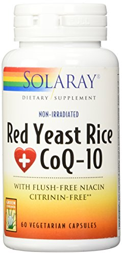Cheap Solaray Red Yeast Rice Plus COQ-10 Supplement, 60 Count