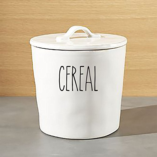 Rae Dunn Inspired Vinyl Decals For Dishware Variety of Words to Choose From! (Ivy Cereal)