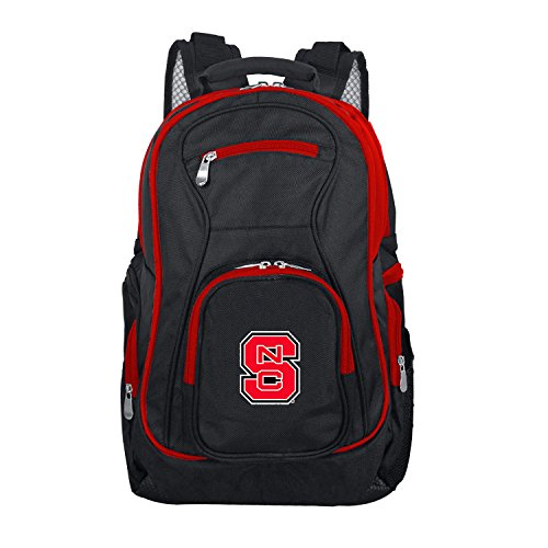 (NCAA North Carolina State Wolfpack Colored Trim Premium Laptop Backpack)