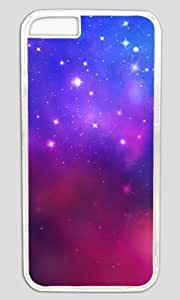 Pink and Blue Starry Sky DIY Hard Shell Transparent Beautify iphone 6 plus Case