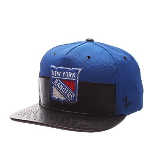 NHL New York Rangers Men's Anarchy Snapback Hat, Adjustable, Gray/Black