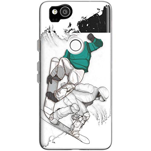 WooWie TPU Silicone Phone Case for Google Pixel 3a 3 XL 4 inch 5'' 6'' 2019 Pixel 2 Scratch Resistant Slim Fit Snowboarder Funny Boys Cool Woman Print Full Body Gift Teenage Girls Anti Fingerprint (Best Female Snowboarder 2019)