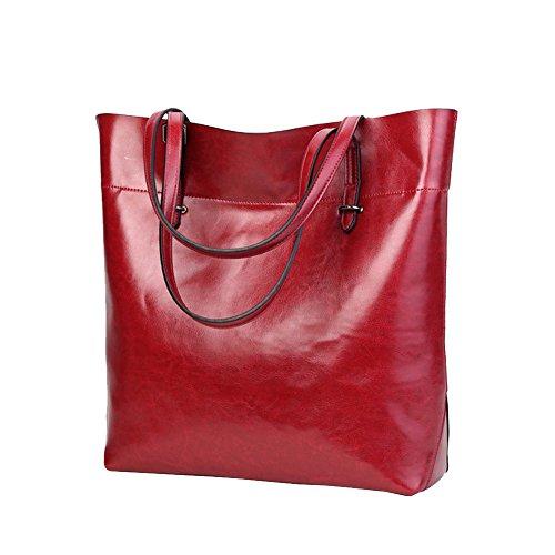 Pelle A Donna Messenger Rosso Borsa Tote Secchio Crossbody Catena Borse Dorame Elegante In Retrò Spalla Donne Bag zE7aWwpqRn