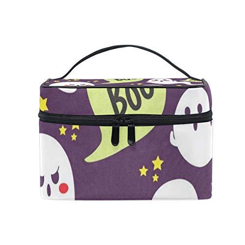 Makeup Bag Cute Halloween Cosmetic Bag Portable Large Toiletry Bag for Women/Girls -
