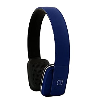 ECHOS Auriculares Audifonos con Bluetooth Wireless Inalambricos Headphones Stereo en AZUL para Apple iPhone 7 iPhone