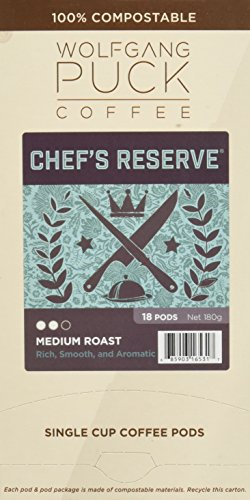 Wolfgang Puck Chef's Reserve, Medium Roast, 18 Count