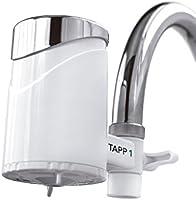 TAPP 1 - Filtro de agua para grifo de TAPP Water (elimina cloro, cal, metales pesados, pesticidas), color blanco, filtro de carbón activado