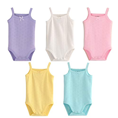 Infant/Toddler Baby Girls Boys Sleeveless Onesies Tank Top Cotton Baby Bodysuit Pack of Summer Baby Clothes Outfit (12-18 Months)
