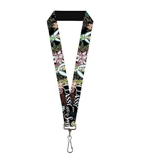 Buckle-Down Lanyard - Tinker Bell Floral Collage CLASSY AND SASSY