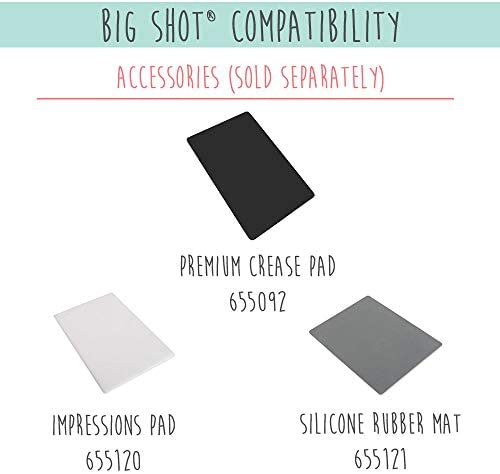 Sizzix Big Shot Starter Kit Manual Die Cutting Machine with Extended Platform and Bigz and Thinlits Dies Embossing Folder and Cardstock Opening 6 in 15.24 cm