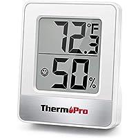 ThermoPro TP49 Mini Termómetro Higrómetro Digital Termohigrómetro de Interior Medidor de Temperatura y Humedad para…