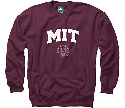 Ivysport MIT University Crewneck Sweatshirt, Crest, Maroon, ()
