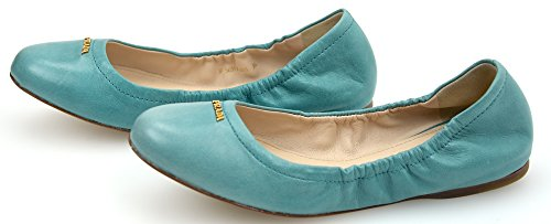 FLAT PRADA BALLERINA TURQUOISE CODE 3F5659F WOMAN SHOES TURCHESE OR RED HAIRSPRAY TURQUOISE TwUqgwEnx