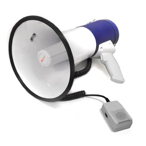 Auna 80 Watt Megafon Megaphon Lautsprecher Sirene wetterfest leicht inkl. Handmikrofon