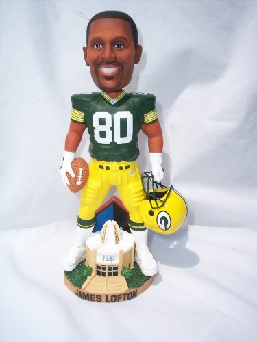 JAMES LOFTON #80 PACKERS HALL OF FAME STATUE BOBBLE HEAD by Forever Collectibles