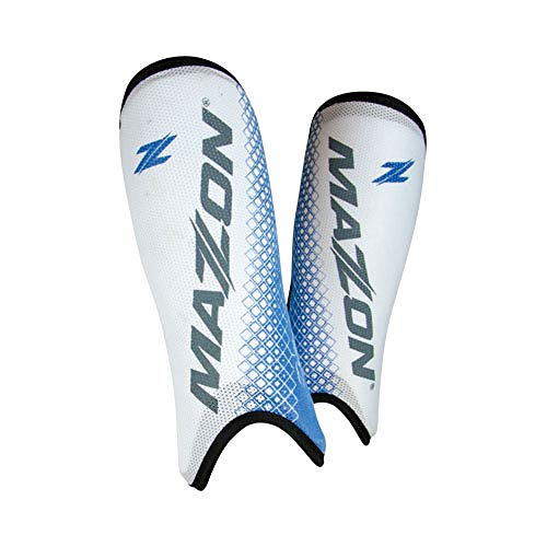 Mazon Deflector Field Hockey Shin Guard (White/Blue, XS)