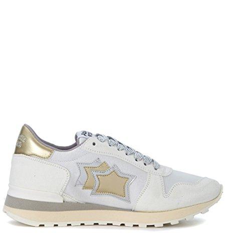 Stars Oro en Blanco y Atlantic Sneaker Plata Piel Alhena Blanca wUxRW5qC