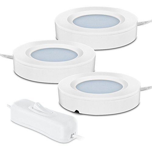 Westek LED33HBCC 2.75'' LED Ultra-Slim Under Cabinet Puck Light Starter Kit, White by Westek