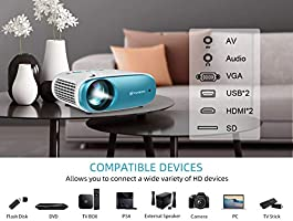 Amazon.com: Mini proyector de vídeo VANKYO Cinemango 100 ...