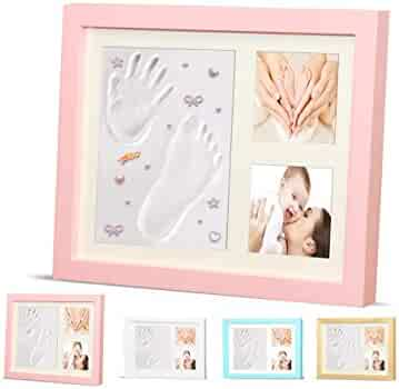 Baby Handprint Kit - Baby Picture Frame, Baby Footprint kit Photo ...