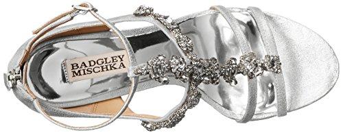 Badgley Mischka cashet II Sandalias de cuña de la mujer Silver