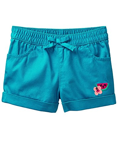 Gymboree Toddler Girls' Drawstring Cuffed Shorts, Turquoise, 3T by Gymboree