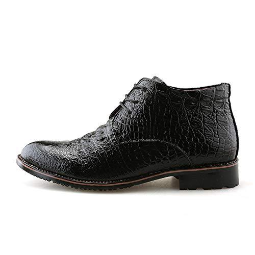 Hombres Estilo Negro la de de y los Calientes del Oxford Zapatos del del Punta EU algodón la Botas 38 con Jusheng Martin tamaño de los Formales Ocasionales Negocio Negro Moda Color de 7qH7w1
