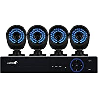 LOGAN AHD Series Video Security System DVR 8 Ch 1080p / 4 Bullet 2MP Cameras (8 Ch + 4 Cameras, 1080p / 2 MP)