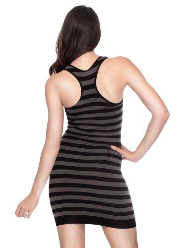 Simplicity Striped Mini Tank Dress in Seamless Stretch Fit Fibers