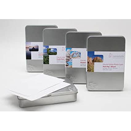 Hahnemuhle Photo Rag Baryta 315gsm Inkjet Photo Cards, 4x6, 30 Sheets in a Tin Box. by Hahnemuhle